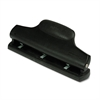 "30-Sheet Ergonomic Two- or Three-Hole Punch, 9/32"" Holes, Black"