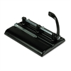 "Master 24-Sheet Lever Action Two- to Seven-Hole Punch, 9/32"" Holes, Black"