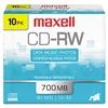 CD-RW Discs, 700MB/80min, 4x, Silver, 10/Pack
