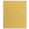 Mead Recycled Notebook, College Ruled, 11 x 8 1/2, 80 Sheets, Perforated, Assorted