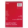 Mead Spell Write Wirebound Steno Book, Gregg Rule, 6 x 9, White, 80 Sheets