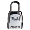 Locking Combination 5 Key Steel Box, 3 1/2w x 1 5/8d x 4h, Black/Silver