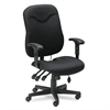 Mayline Comfort Series Executive Posture Chair, Black Fabric