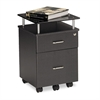 Mayline Eastwinds Vision Locking Box/File Pedestal, Anthracite with Black Glass