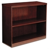 Luminary Series Veneer Two-Shelf Bookcase, 34-5/8w x 12d x 29h, Cherry