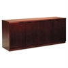 Luminary Series Wood Veneer Hinged Door Credenza, 72w x 20d x 29h, Cherry