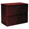Luminary Series Wood Veneer Two-Drawer Lateral File, 34-5/8w x 20d x 29h, Cherry