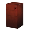 Mayline Luminary Series Wood Veneer Freestanding Box/Box/File Pedestal, Cherry