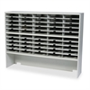 Mayline Kwik-File Mailflow-To-Go 2 Tier Sorter w/Riser, 50 Pockets, 60 x 13 1/4 x 46 1/4