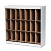 Mayline Kwik-File Vertipocket Vertical Sorter, 21 Pkt, 37 3/4 x 12 3/4 x 37, Pebble Gray
