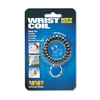Wrist Coil with Key Ring, Black