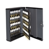 Steelmaster Security Key Cabinets, 90-Key, Steel, Charcoal Gray, 12 x 4 1/4 x 14 3/4