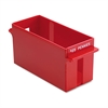 MMF Industries Porta-Count System Extra-Capacity Rolled Coin Plastic Storage Tray, Red