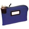 MMF Industries Seven-Pin Security/Night Deposit Bag, Two Keys, Cotton Duck, 11 x 8 1/2, Blue