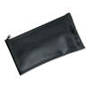 MMF Industries Leatherette Zippered Wallet, Leather-Like Vinyl, 11w x 6h, Black