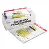 MMF Industries 12 Bundle Capacity Tamper-Evident Cash Bags, 20 x 24, Clear, 250 Bags/Box