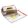 MMF Industries 16 Bundle Capacity Tamper-Evident Cash Bags, 20 x 28, Clear, 100 Bags/Box