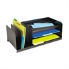 Steelmaster Legal-Size Organizer, Seven Sections, Steel, 25 7/8 x 11 x 8 1/8, Black