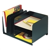 Steelmaster Vertical/Horizontal Combo Organizer, Six Sections, Steel, 15 x 11 x 8 1/8, Black