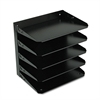 Steelmaster Steelmaster Multi-Tier Horizontal Letter Organizers, Five Tier, Steel, Black