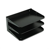 Steelmaster Multi-Tier Horizontal Letter Organizers, Three Tier, Steel, Black