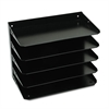 Multi-Tier Horizontal Legal Organizers, Five Tier, Steel, Black