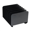 Desktop Vertical Organizer, Six Sections, Steel, 12 x 11 x 8 1/8, Black