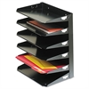 Steelmaster Steelmaster Multi-Tier Horizontal Letter Organizers, Six Tier, Steel, Black