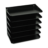 Steelmaster Steelmaster Multi-Tier Horizontal Legal Organizers, Six Tier, Steel, Black