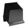 Steelmaster Slanted Vertical Organizer, Eight Sections, Steel, 11 x 9 1/4 x 12, Black