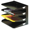 Steelmaster Multi-Tier Horizontal Letter Organizers, Four Tier, Steel, Black