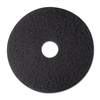 "3M Low-Speed Stripper Floor Pad 7200, 12"", Black, 5/Carton"