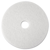 "3M Super Polish Floor Pad 4100, 12"", White, 5/Carton"