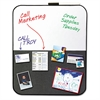 Self-Stick/Dry Erase Combination Board, 22 x 18, Gray/White, Charcoal Frame