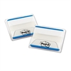 Post-it File Tabs, 2 x 1 1/2, Lined, Blue, 50/Pack