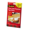 ScotchPad Label Protection Tape Sheets, 4 x 6, Clear, 25/Pad, 2 Pads/Pack