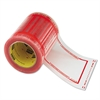 "Pouch Tape, 5"" x 6"", Transparent w/Orange Border, 500/Roll"