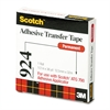 "Scotch Adhesive Transfer Tape, 1/2"" Wide x 36yds"