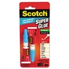 Scotch Single Use Super Glue, 1/2 Gram Tube, Gel, 2/Pack