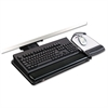"Positive Locking Keyboard Tray, Highly Adjustable Platform, 21 3/4"" Track, Black"