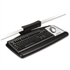 Tool-Free Install Knob Adjust Keyboard Tray With Standard Platform, Black