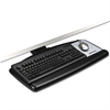 "Positive Locking Keyboard Tray, Standard Platform, 21 3/4"" Track, Black"