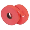 Pricemarker 1156 One-Line Labels, 3/4 x 1-1/4, Fluorescent Red, 2 Rolls/Pack