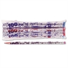 Moon Products Decorated Woodcase Pencil, 100th Day, HB #2, Silver, Dozen