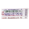 Moon Products Decorated Wood Pencil, Second Graders Are #1, HB #2, White, Dozen