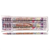 Moon Products Decorated Pencil, Happy Birthday, #2, Holographic SR Brl, Dozen