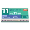 "Max No. 11 Mini Staples for HD-11FLK, 1/4"" Leg, 3/8""Crown Flat Clinch, 1,000/Box"