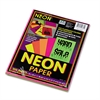 Pacon Array Colored Bond Paper, 24lb, 8-1/2 x 11, Assorted Neon, 100 Sheets/Pack