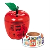 Pacon Stickers in Plastic Apple, Reward, 600 Stickers/Pack