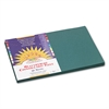 SunWorks Construction Paper, 58 lbs., 12 x 18, Dark Green, 50 Sheets/Pack